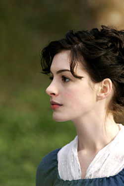 Anne Hathaway is Becoming Jane.