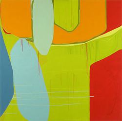 """Untitled (3-3),"" by Frank T. Martinez, acrylic on canvas."