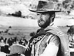 The eyes have it: Clint Eastwood in The Good, the  Bad and the Ugly.