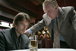 Ethan Hawke and Philip Seymour Hoffman have family issues in Before the Devil Knows You&#039;re Dead.