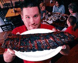 Nice rack: Andrew Besemer does ribs right at Big  Papa's BBQ.