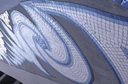 Close-up of &quot;Currents and Eddies,&quot; by Martha 