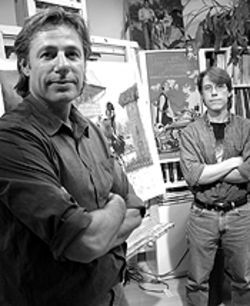 The art of the wheel: David Uhl (left) and Daniel Stuckenschneider in their studio.