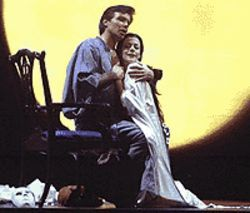 Gerard Powers and Maria Kanyova in Madama  Butterfly.
