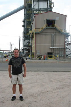 "Cliff Warren lives two blocks from Lamar's power plant, the scene of occasional ""opacity incidents"" related to the handling of coal ash."