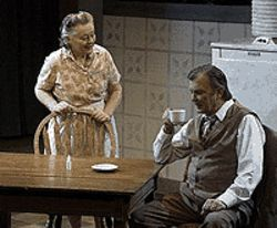 Frances Burns and Billy Thornton in Death of a 