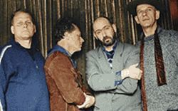 Star-spangled downer (from left): Dan Pearson, Tim 