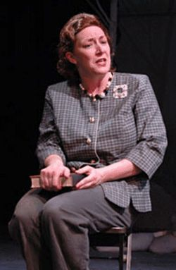 Dee Covington as First Lady Laura Bush.