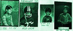 A friendly, happy boy: Danny Lopez in kindergarten, first, third and fourth grades.