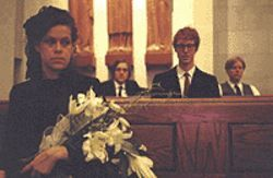Funeral party: Rgine Chassagne (from left), Win 