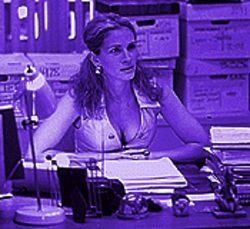 What are you looking at?: Julia Roberts as Erin Brockovich.