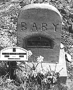 The Pea Green cemetery holds the graves of many infants.