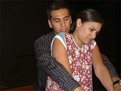 Jose Aguila and Gemma Aguayo in Su Teatro's Braided Sorrow.