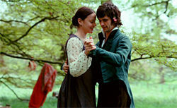 Abbie Cornish and Ben Wishaw in Bright Star.