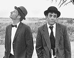 Brett Aune (left) and Gary Culig in the Bug Theatre's  Waiting for Godot.
