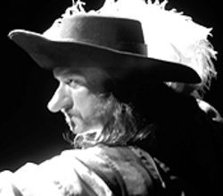 Bill Christ stars as the title swordsman in Cyrano de Bergerac.