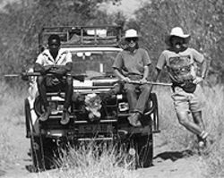 Ramey, his wife and a guide in Zimbabwe in 1990.