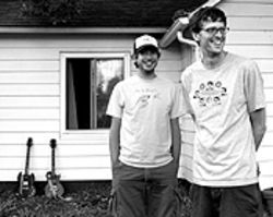 Gee mom, I want to make noise: Aaron Betcher and  Dan McDermott of Garage Rock 101.