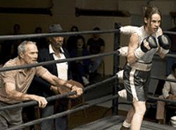 A fistful: Clint Eastwood, Morgan Freeman and Hilary Swank get plucky in Million Dollar Baby.