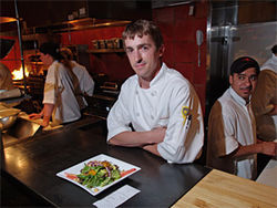 Ian Clark is at the center of the action at Centro Latin Kitchen.