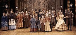The cast of A Christmas Carol re-creates jolly  old England in the classic's finale.