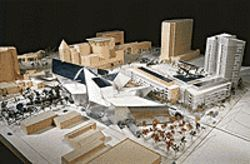 Model of the Hamilton Building and its surrounding  complex, by Daniel Libeskind.