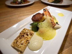 Seafood, eat it: Charcoal's blue prawn and scallop fricassee. Slide show: In the kitchen at Charcoal