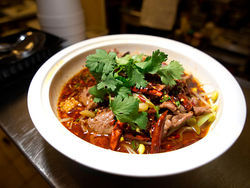 The spicy, mouth-numbing beef at Chef Liu's lives up to its billing.
