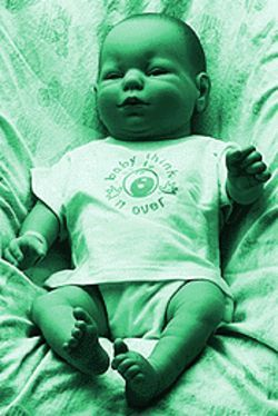 Feed me: Baby simulators give teenagers a shot at being a parent.