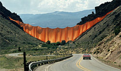 """Valley Curtain,"" by Christo and Jeanne-Claude. Photograph by Wolfgang Volz."
