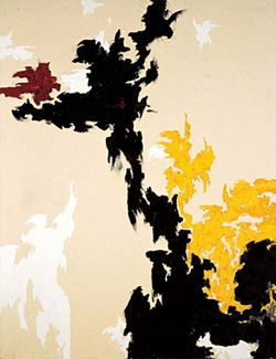 &quot;PH-118,&quot; by Clyfford Still, oil on canvas.