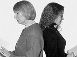 Patty Mintz Figel (left) and Heather Nicolson in Collected Stories.