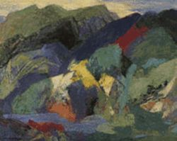 &quot;Mountain and Stream,&quot; by Ethel Magafan, oil on 