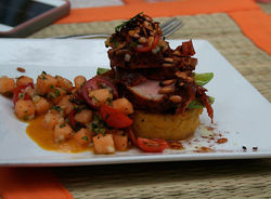 Lee Reitz's dish held the day at the cantaloupe cook-off.