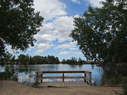 The fish are biting at Lake Mary in the Rocky Mountain Arsenal National Wildlife Refuge.