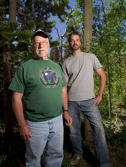 CU researchers Jeff Mitton (left) and Scott Ferrenberg observed the beetles achieving two generations a summer. Slide show: Meet the beetles: How Colorado&#039;s forests are bugging out