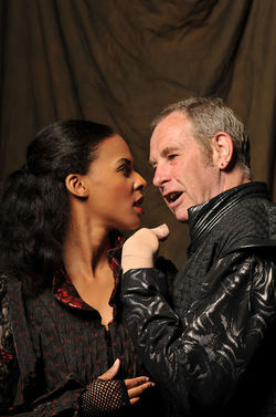 ZZ Moor and Nigel Gore in Richard III.