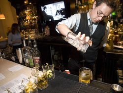 Bartender Parker Rainey celebrates cubism at Colt & Gray.