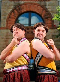Gary Alan Wright and Tom Coiner in The Comedy of Errors.
