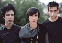 The Yeah Yeah Yeahs are a happy bunch.