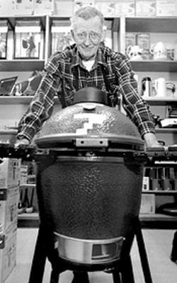A matter of taste: Jim Sandon and the Big Green Egg.