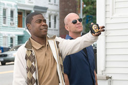 Tracy Morgan and Bruce Willis in Cop Out.