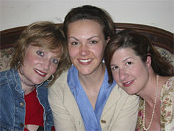 Megan VanDeHey (from left), Laura Norman and Emily Paton Davis.