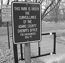 Adams family values: At Lafayette Park, cruisers  ignore the sheriff's warning at their own peril.