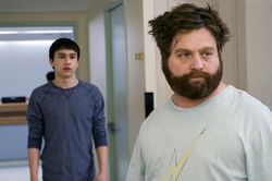Keir Gilchrist (left) and Zach Galifianakis star in It's Kind of a Funny Story.