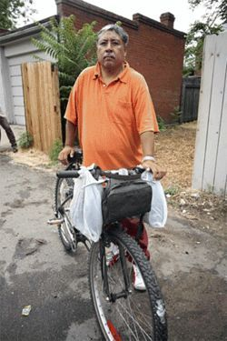 A home away from homeless: Roy Guerreo appreciates  Derailer's free services.