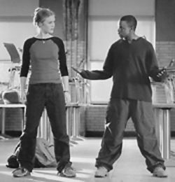 Julie Stiles and Sean Patrick Thomas two-step around social barriers in Save the Last Dance.