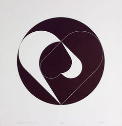 """Circular Composition #109,"" by Dave Yust, print. See also: Photos: Dave Yust puts printmaking front and center"