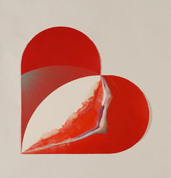 """Heart-Inclusion K-23,"" by Dave Yust, monotype. See also: Photos: Dave Yust puts printmaking front and center"