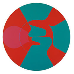 &quot;Circular Composition #28 (Change in Scale #13),&quot; by David Yust, acrylic on canvas.